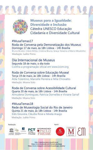 Programa de atividades de 17 a 21 de Maio 2020